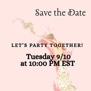 Co-hosting a Virtual Poshmark Party Tuesday 9/10